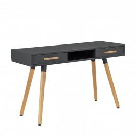 [en.casa]® Dizajnový stôl HTST-3263 - sivý