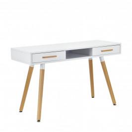 [en.casa]® Dizajnový stôl HTST-3262 - biely