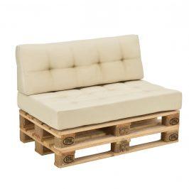 [en.casa]® Paletový nábytok - model 9 - béžový