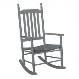 [casa.pro]® Pohodlná drevená hojdacia stolička - 115 x 62 x 84 cm - šedá