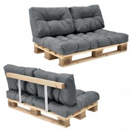 [en.casa]® Paletový interiérový nábytok - model A - svetlo sivý