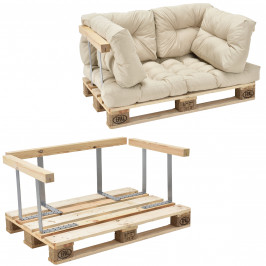 [en.casa]® Paletový interiérový nábytok - model C - béžový