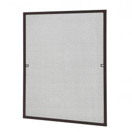 [casa.pro]® Sieťka proti komárom / hmyzu - s hliníkovým rámom  - 120 x 140 cm - hnedá