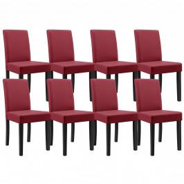 [en.casa] Jedálenské stoličky 8 x HTMY-9702 tmavo červené