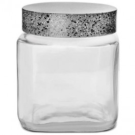 Dóza sklo/UH GRANIT hranatá 1 l
