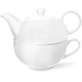 Čajová súprava porc. 2 ks WHITE