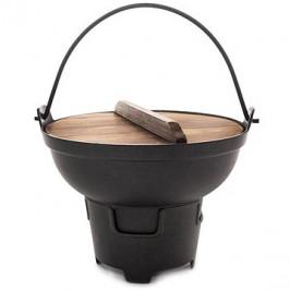 Fondue nepriľ. povrch GRANDE pr. 21,5 cm + pokrievka drevená
