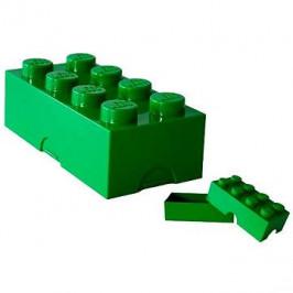 LEGO Box na desiatu 100 x 200 x 75 mm - tmavo zelený
