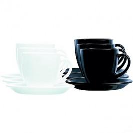 Arcoroc Sada 6 ks šálok s podšálkou 20 ml CARINE čierna/biela
