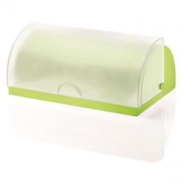 Forme Casa Chlebovnica plastová zelená s transparentným poklopom