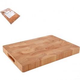 ORION Krájacia doska gumovníkové drevo 35 × 25 × 3,3 cm
