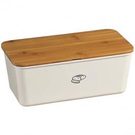 Kesper Úložný box na chlieb s krájacou doskou, krémový
