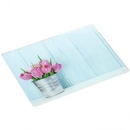 Kesper Sklenená rezacia doska Tulipány, 20 × 30 cm