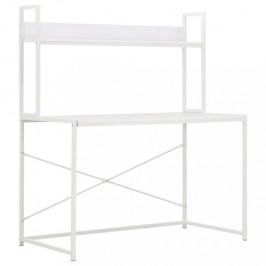 Písací stôl 120x60 cm s policou Dekorhome Biela