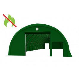Skladová hala 9,15x20m PVC - nehorľavá Zelená