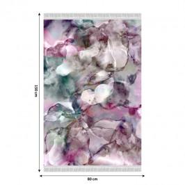 Koberec DELILA so strapcami ružová / zelená / krémová Tempo Kondela 80x150 cm