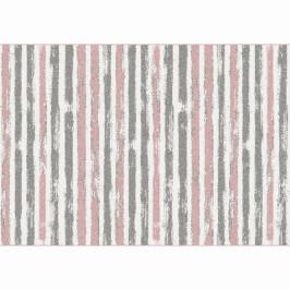 Koberec KARAN ružová / sivá / biela Tempo Kondela 57x90 cm