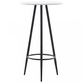 Barový stôl Ø 60cm Dekorhome Biela