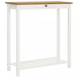 Barový stôl biela / dub Dekorhome