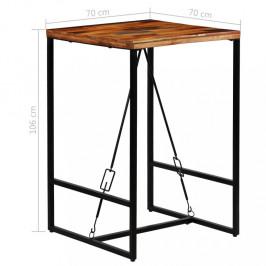 Barový stôl recyklované drevo Dekorhome 70x70x106 cm