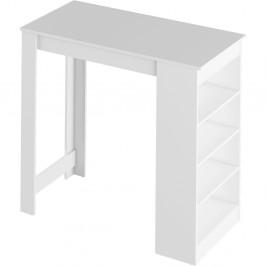 Barový stôl s regálom AUSTEN Tempo Kondela Biela