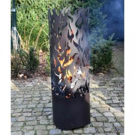 Vysoký kôš na oheň čierna Dekorhome