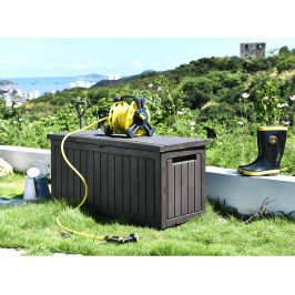 Záhradný úložný box DAGON 285l hnedá Tempo Kondela