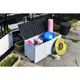 Záhradný úložný box PADMO 265l biela / čierna Tempo Kondela