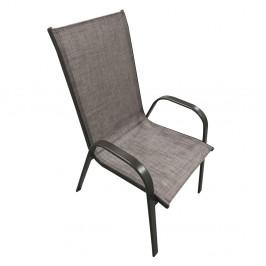 Záhradná stolička ALDERA Tempo Kondela Hnedá
