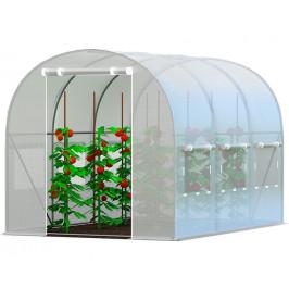 Záhradný fóliovník 2x3m zelená Biela
