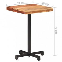 Bistro stôl štvorcový hnedá / čierna Dekorhome 50x50x75 cm