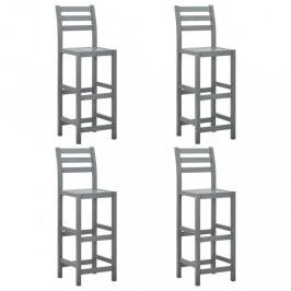 Záhradná barové stoličky 4 ks sivá Dekorhome