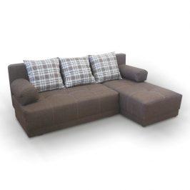 Rohová sedací souprava, šedý melír / vzor, pravá, MEXX 0000063786 Tempo Kondela