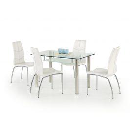 Sklenený jedálenský stôl OLIVIER Halmar