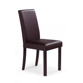 Jedálenská stolička NIKKO tmavý orech / tmavá hnedá Halmar