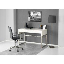 Písací stôl B-32 biela vysoký lesk Halmar