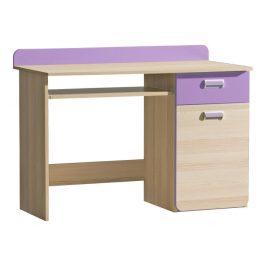 PC stůl, jasan/fialový, EGO L10 06021812 Tempo Kondela