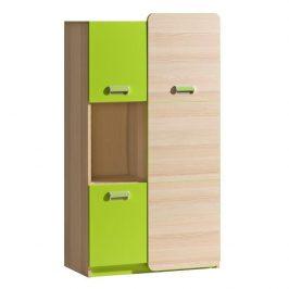 Skříňka, jasan / zelená, EGO L5 06024043 Tempo Kondela