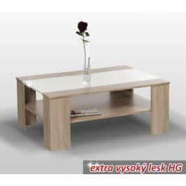 Konferenční stolek, dub sonoma / bílá extra vysoký lesk HG, ARIADNA 0000030021 Tempo Kondela