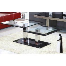Konferenční stolek, černá / sklo, GABRIEL 02025292 Tempo Kondela