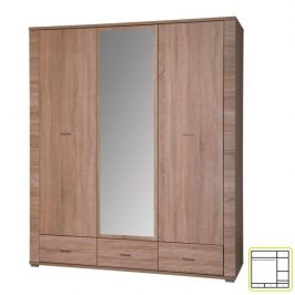 Skříň se zrcadlem typ 2, dub sonoma, GRAND 0000062658 Tempo Kondela