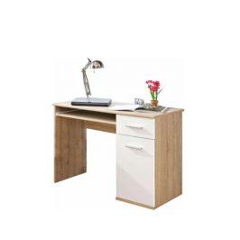PC stůl, dub sonoma / bílá, EMIO TYP 6 0000083799 Tempo Kondela