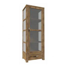 Třístranná vitrína W1D, dub lefkas, NEVADA 0000086126 Tempo Kondela