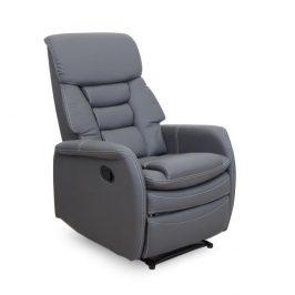 Relaxační křeslo, šedá ekokůže, KOMFY 0000127848 Tempo Kondela