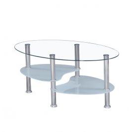 Konferenční stolek, ocel/čiré sklo/mléčné sklá, WAVE NEW 0000143859 Tempo Kondela