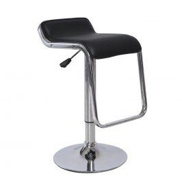 Barová židle, ekokůže černá / chrom, ILANA 0000138349 Tempo Kondela