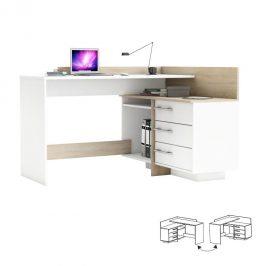 PC stůl, univerzální, dub sonoma / bílá, TALE 484881 0000149690 Tempo Kondela