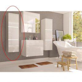 Skříňka vysoká, bílá / bílý extra vysoký lesk HG, MASON WH 11 0000186887 Tempo Kondela