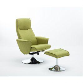 Křeslo s podnoží, zelená barva Greenery, látka a kov, LONATO 0000190908 Tempo Kondela