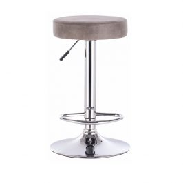 Barová židle, šedohnědá látka s efektem broušené kůže, GALVIN 0000206810 Tempo Kondela